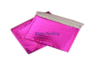 Pink Metallic Bubble Mailers / Bubble Wrap Envelopes For Electronic Products