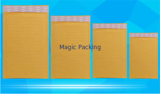 Recyclable Kraft Paper Bubble Mailers , Courier Packing Bags Wrinkle Resistant