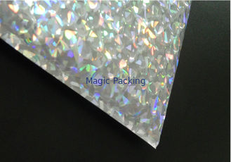 Reclosable 250x180mm Shiny Holographic Slider Zipper bubble bag , Bubble for packing